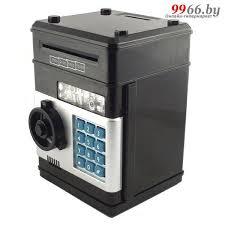 <b>Копилка для денег Эврика</b> Сейф большая Black 94925 купить в ...