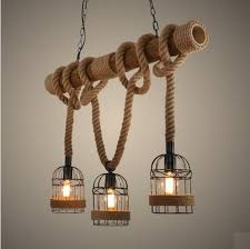 loft style rope tube droplight edison pendant light fixtures for dining room hanging lamp vintage artistic artistic lighting fixtures