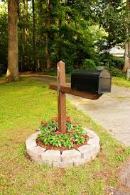 easy mail box landscape flowers around mailbox ideas bedroommagnificent lush landscaping ideas