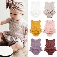 <b>New Summer</b> Newborn Kid Baby Girl <b>Clothes</b> Sleeveless Romper ...