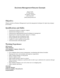 business resume examples com business management resume example business resume format