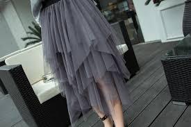 Online Shop <b>Jielur Black</b> Gray Women Skirt Irregular Sexy Saia Pure ...