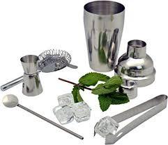 Stainless Steel <b>5 Piece</b> Manhattan Cocktail Shaker <b>Set</b> Cocktail ...