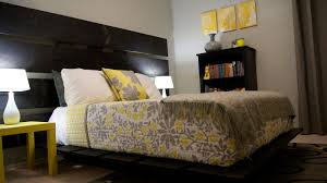 splendid small bedroom furniture ideas with black varnished barnwood platform bed using grey yellow floral patterned comforter setjpg accessoriesravishing silver bedroom furniture home inspiration ideas