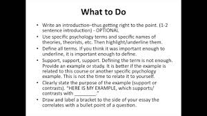 ap psychology essay questions ap psych intro to response questions
