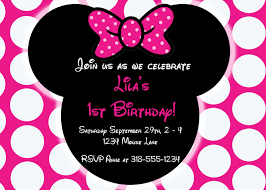invitations minnie mouse first birthday invitations minnie mouse first birthday picture invitations