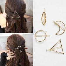 F221 <b>4Pcs</b>/set <b>Korea</b> Simple Metal Hair Clips <b>for</b> Women Geometric ...