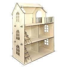 Сказочный <b>кукольный домик</b> из дерева купить с мебелью в ...