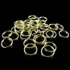 6mm gold or nickel plated, antiqued copper, or black oxide <b>split</b> ring ...