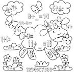 Раскраски по математика для 1 класса