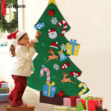 <b>OurWarm</b> New Year Gifts Kids <b>DIY</b> Felt Christmas Tree Decorations ...