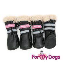<b>For My Dogs Сапоги</b> зимние РП черные (4шт)