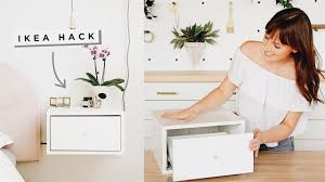<b>Floating Nightstands</b> Ikea Hack! - YouTube