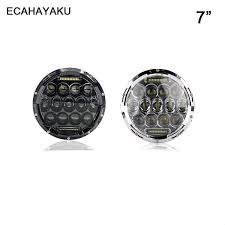 <b>ECAHAYAKU</b> Led Headlight/Headlamp <b>7</b> Inch <b>75W Round</b> Bulb 5D ...
