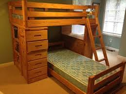 image of solid wood bunk beds with drawers and desk bunk beds desk drawers