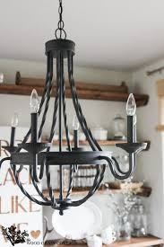 farmhouse home decorating homedepot dining room light fixture the wood grain cottage amelie distressed chandelier perfect lighting