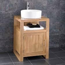 washstand bathroom pine: cube solid oak freestanding cm washstand sink washbasin bathroom cabinet basin