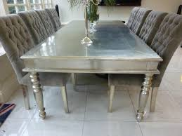 Silver Dining Room Set Google Metals And White Dining Table On Pinterest