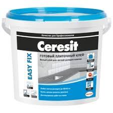 <b>Клей для керамической плитки</b> СERESIT Easy Fix, готовый, 3,5 кг