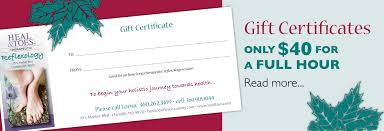 it s time for holiday reflexology gift certificates it s