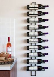 <b>Wine rack</b> Wall mount <b>TEN</b> 116cm made of metal for <b>10</b> Bottles ...