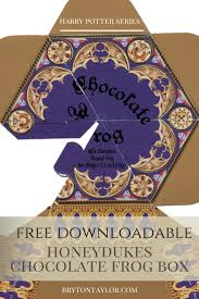 chocolate frog box template harry potter hogwarts dinner party chocolate frog box template harry potter hogwarts dinner party