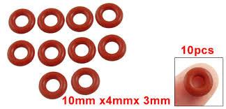 <b>Uxcell 10Pcs</b> 3mm 5mm 50pcs 2mm <b>Silicone O Ring</b> Oil Sealing ...