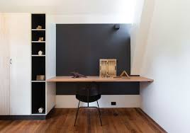 office desk built into wall built office desk