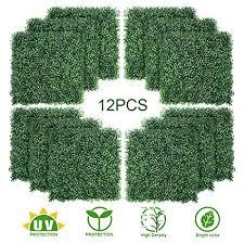 TOPNEW 12PCS <b>Artificial</b> Boxwood <b>Topiary Hedge Plant</b> UV