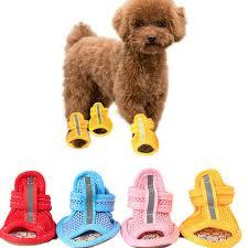 4pcs/lot <b>Hot Sale</b> Casual Anti Slip Small <b>Dog</b> Shoes <b>Cute Pet</b> Shoes ...