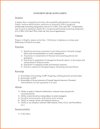 statement of qualifications example s report template statement of qualifications example 42099252 png