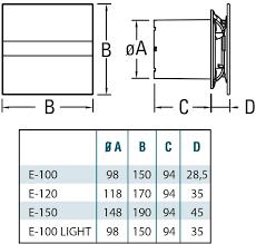 <b>Вытяжной вентилятор Cata E-100</b> GS