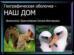 """Презентация на тему: """"<b>Географическая</b> оболочка - НАШ ДОМ ..."""