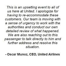 """United Airlines on Twitter: """"United CEO response to United Express ..."""