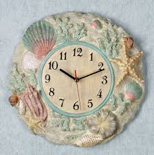 small bathroom clock: beach themed wall clock beach themed wall clock beach themed wall clock