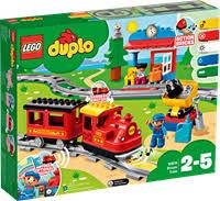 Конструктор <b>LEGO Duplo</b> Town <b>Поезд на</b> паровой тяге 10874 ...