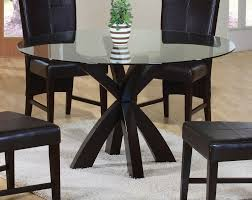 ebony dining table glass topjpg round glass dining  dining table with round glass top in rich cappucci