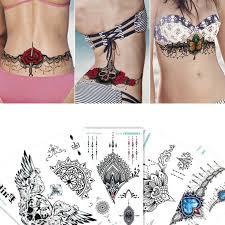 <b>1sheet</b> Multi styles 24models Arm Sleeve back Temporary Tattoo ...