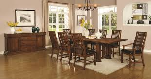 beaumont piece rectangular dining set brown