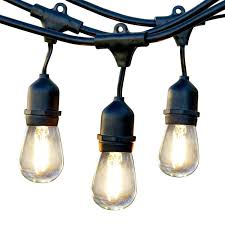 string lights e bulbs ambience pro led  watt  foot outdoor weatherproof commercial grade str