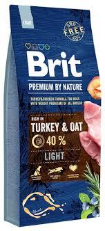 Корм для собак <b>Brit Premium</b> by Nature индейка, курица с овсом, с ...