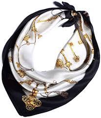 Helan Women's Real Natural <b>53cm X 53cm</b> Square <b>Silk Scarves</b> ...