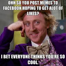 Ohh So You Post Memes To Facebook Hoping To Get Alot Of Likes? I ... via Relatably.com