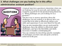 top office administrative assistant interview questions and answers