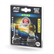 <b>Лампа</b> галогенная <b>AVS ATLAS</b> ANTI-FOG / желтый H27/880 12V ...