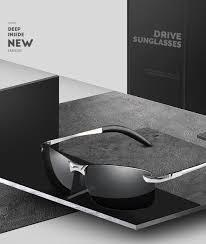 VIVIBEE Rimless Color Changing Sun Glasses Driving Men Driver ...