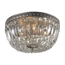 flush mount with crystal beaded shade beaded lighting