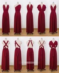 <b>Cheap</b> 2015 Long Chiffon Bridesmaid Convertible Dresses Floor ...