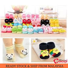 <b>1 Pair Baby</b> Assorted 3D Design Anti-Slip Socks Baby Cotton Sock ...