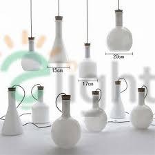magic bottle led pendant light european hand blown milk white glass pendant lights blown glass bottle pendant